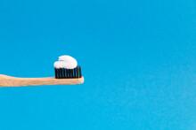Closeup On Bamboo Toothbrush W...