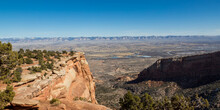 Fruita Colorado Panoramic - View From Book Cliff Shelter, National Historic Structure With Fruita Colorado Between Colorado National Monument And The Book Cliffs