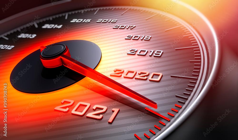 Fototapeta Tachometer 2020 auf 2021