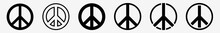 Peace Sign Icon Set | Peace Vector Illustration Logo | Peace Signs | Isolated Collection