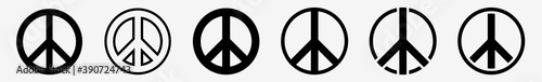 Fotografía Peace Sign Icon Set | Peace Vector Illustration Logo | Peace Signs | Isolated Co