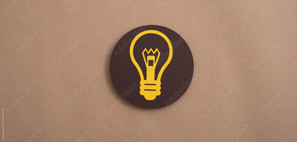 Fototapeta an idea lamp digital innovation