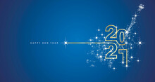 New Year 2021 Line Design Typo...
