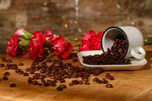 Granos De Café Y Flor 2