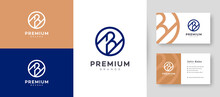Flat & Minimal Initial B Letter Logo With Premium Business Card Design Vector Template For Your Company Business