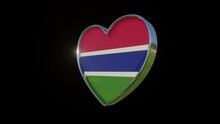 Flag Of Gambia In The Shape Of...