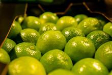 Many Limes Close Up, Citrus Fr...