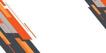 Modern Flat Orange Black Grey Arrow Abstract Presentation Background