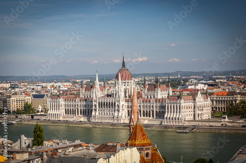 Canvastavla herrlicher Ausblick über die Hauptstadt Budapest