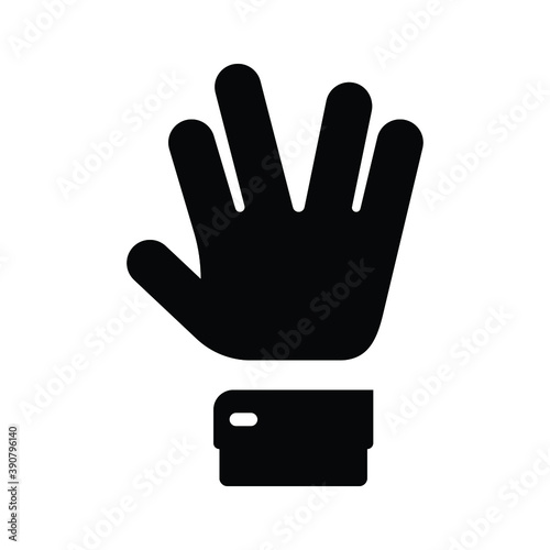 Hand spock Icon,Vulcan Salute  Icon Canvas-taulu