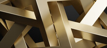 Abstract Gold Background. 3d R...