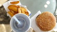 Fast Food Menu With Burger,sau...