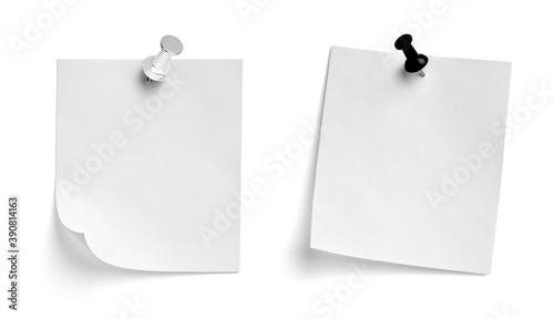 Obraz note paper push pin message red white black - fototapety do salonu