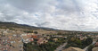 Beautiful view of the buildings in the Ayerbe town in Spain
