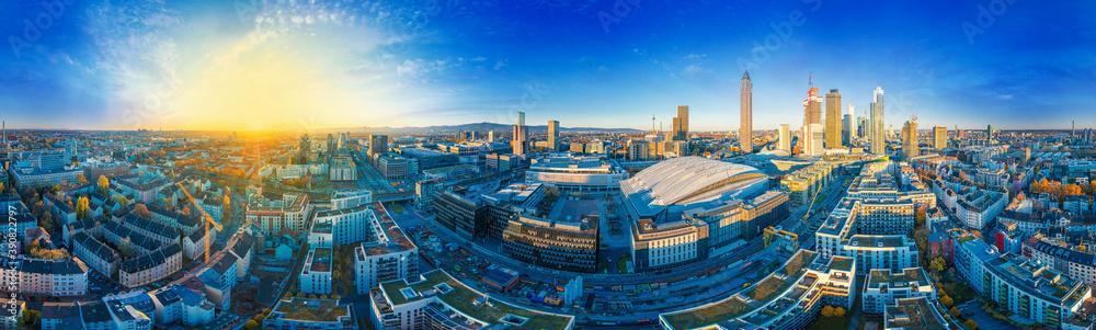 Fototapeta Frankfurt Main Aerial