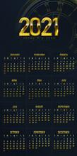 Design Calendar For 2021. Simp...