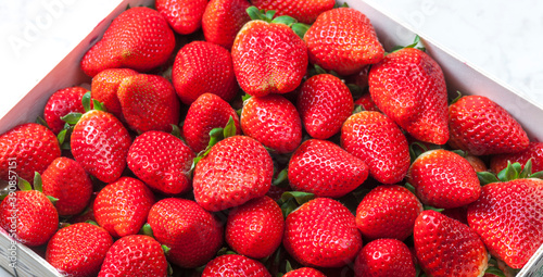 Foto still life of fresh red strawberries