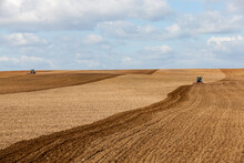 Plowed Agricultural Field