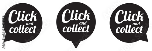 CLICK AND COLLECT LOGO Fotobehang