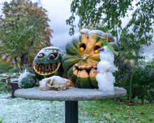 First Snow, Carved Decorative ...