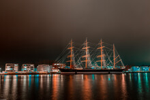 Sailship At Night