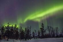 Aurora Boreal Con Forma De Hongo