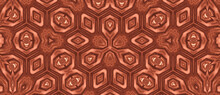 Seamless Brown Kaleidoscopic P...
