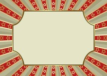 Vintage Background With Decorative Frame And Stars