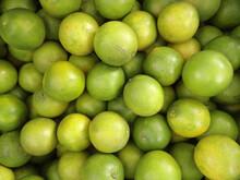 Overhead Shot Of Fresh Limes I...