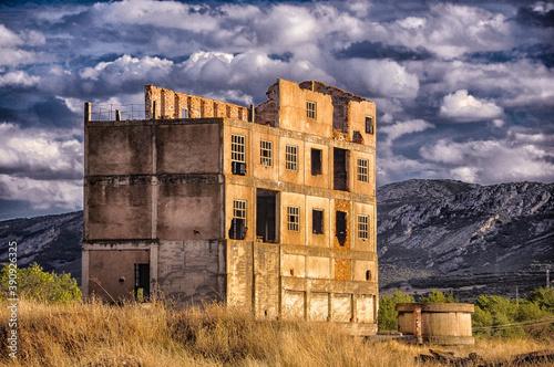 Mining ruins in Puertollano, Ciudad Real, Spain