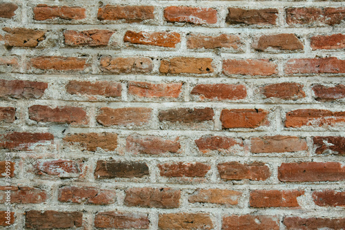 Closeup shot of brickwork on a wall Canvas Print