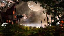 Fairytale House And Mushrooms