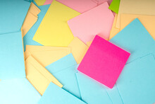 Pile Of Clear Colorful Paper N...