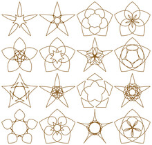 Set Of Five-pointed Stars