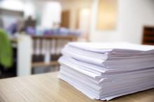 Pile Of Unfinished Documents O...