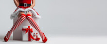 Christmas Pinup Girl And Gifts