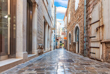 Narrow Adriatic Street In The ...