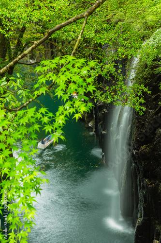 宮崎 高千穂峡 真名井の滝  © pespiero