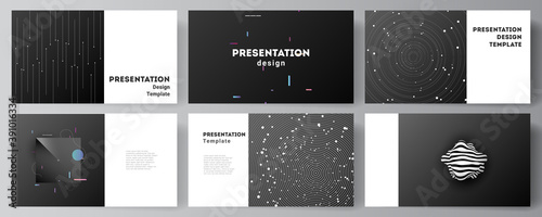 Vector layout of the presentation slides design business templates, multipurpose template for presentation brochure, brochure cover. Tech science future background, space design astronomy concept. - fototapety na wymiar