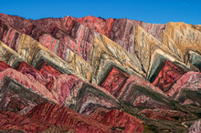Overlook View To The Colorful Serranía De Hornocal  Near Humahuaca In North Of Argentina