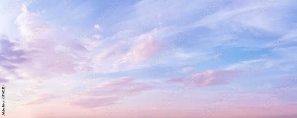 Fototapeta Pastel colored romantic sky panoramic