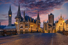 Medieval City Of Gent (Ghent) ...