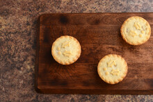 Top View Three Mincemeat Pies