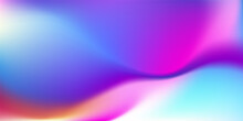 Abstract Colorful Gradient Blue Teal Pink Purple Background. Soft Blurred Backdrop With Place For Text. Vector Illustration For Your Graphic Design, Banner, Poster, Wallpapers, Theme Or Website