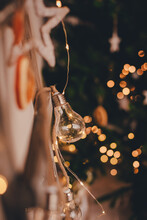 Lamp And Christmass Decorations