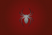 Gradient Background In Black And Red Colors With Icon Of Spider