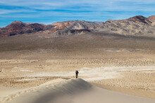 Hiking Up Sand Dunes In Death ...