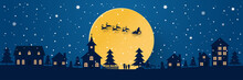 Santa Claus On The Sky Coming ...