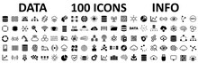 Database Icons Set, 100 Big Da...