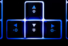 Blue Backlit Low Profile Keyboard.